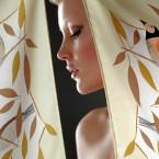 EEDEN silktwill scarf                                                          / client: MarjaKurki
