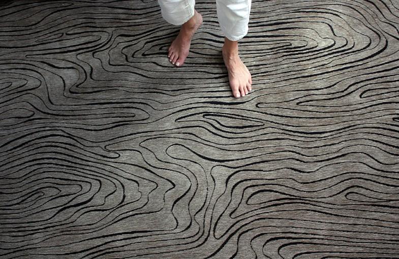 LUSTO rug, jaquard woven cotton  /Studio Elina Helenius production