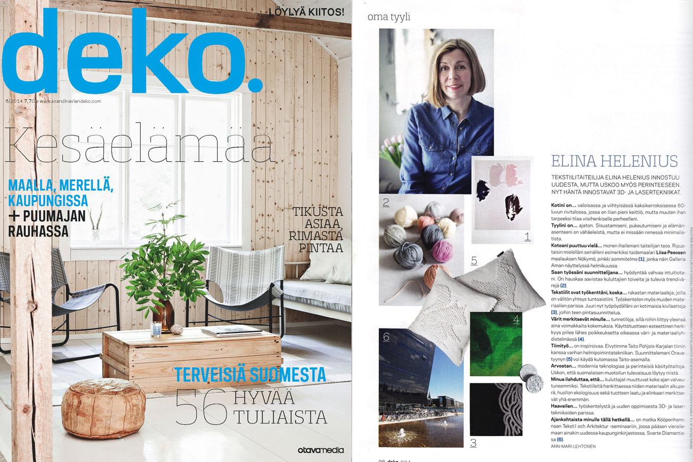 Deko Magazine my style at deko magazine studio elina helenius